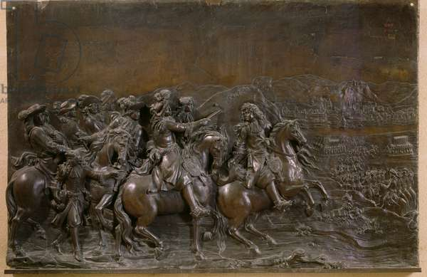 Conquest of Franche-Comte in 1674, c.1686 (bronze)