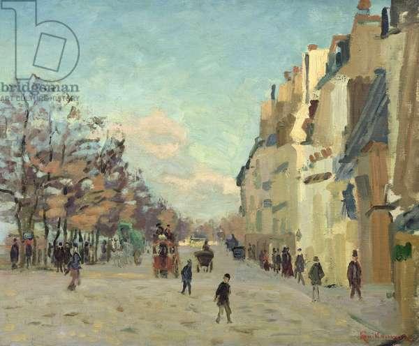 Paris, Quai de Bercy, Snow Effect, c.1873-74 (oil on canvas)