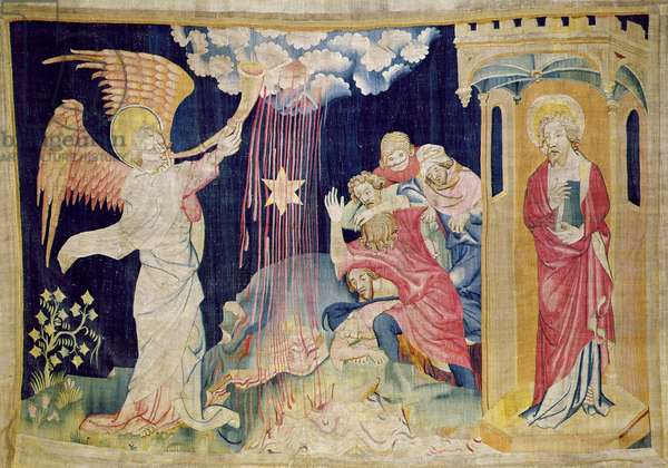 The Third Trumpet and the Wormwood Star, number 22 from 'The Apocalypse of Angers', 1373-87 (tapestry)