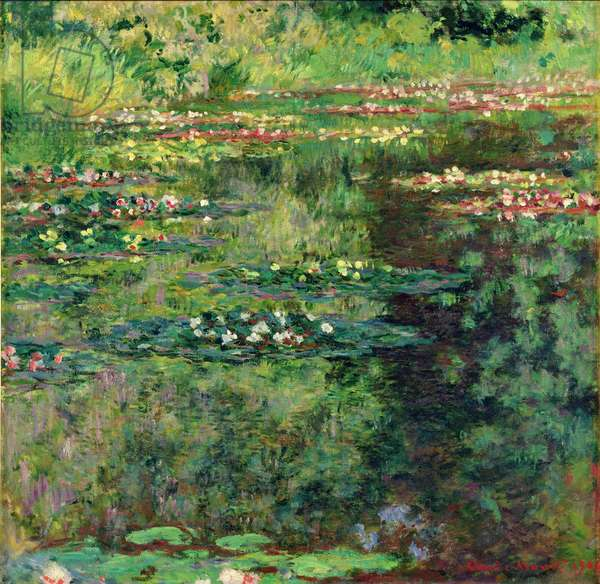 The Waterlily Pond, 1904 (oil on canvas)