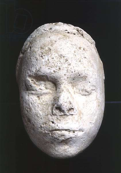 Male mask, possibly a sculptor's study, from Tell El-Amarna, c.1353-1295 BC (plaster)