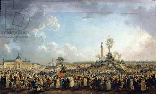 The Festival of the Supreme Being at the Champ de Mars, 8th June 1794 (20 Prairial Year II) (oil on canvas)