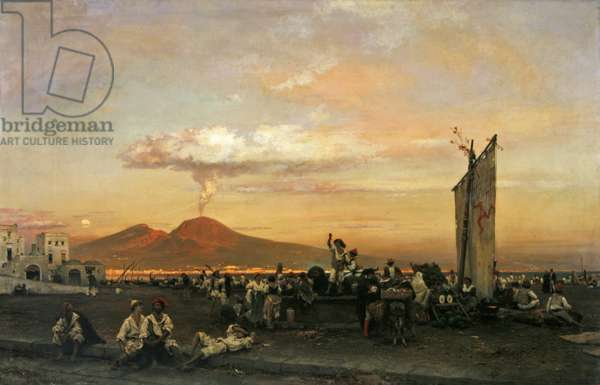 Quayside at Naples, 1859 (oil on canvas)