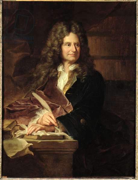 Nicolas Boileau (1636-1711) after 1704 (oil on canvas)