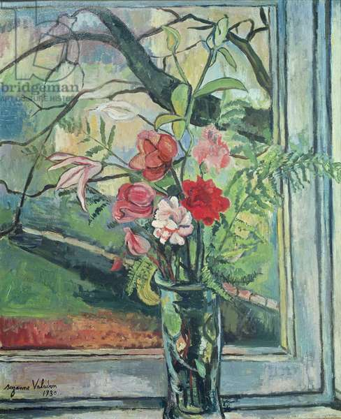 Bouquet of Flowers in Front of a Window, 1930 (oil on canvas)