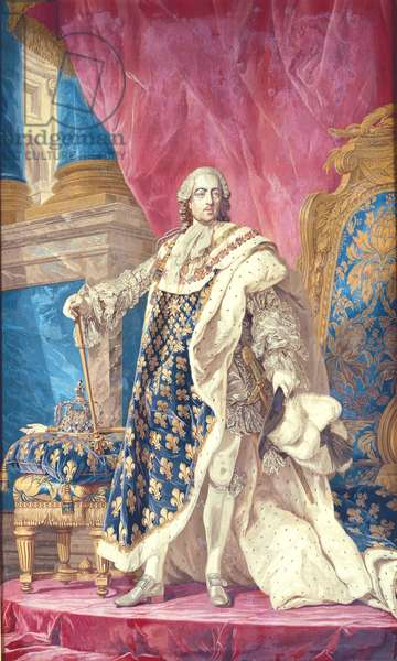 Louis XV (1710-74) in Coronation Robes (tapestry)