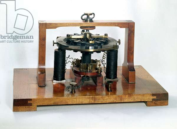 Copy of the electro-magnetic 'macchinetta' invented by Antonio Pacinotti (1841-1912) in 1860, 1888 (mixed media)