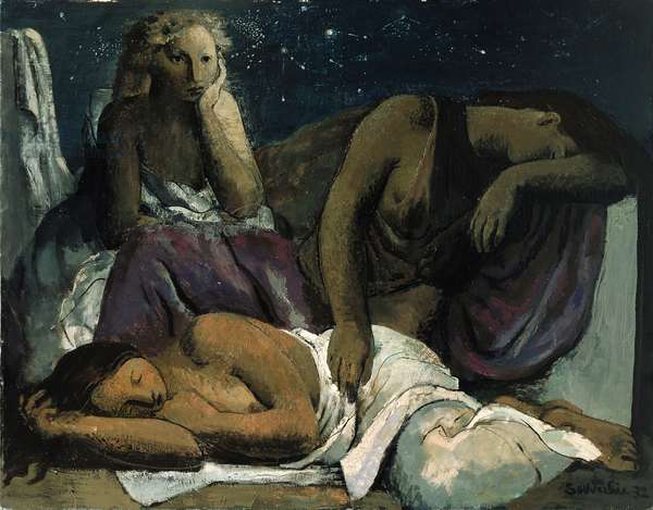 The Night, 1932 (oil on canvas)