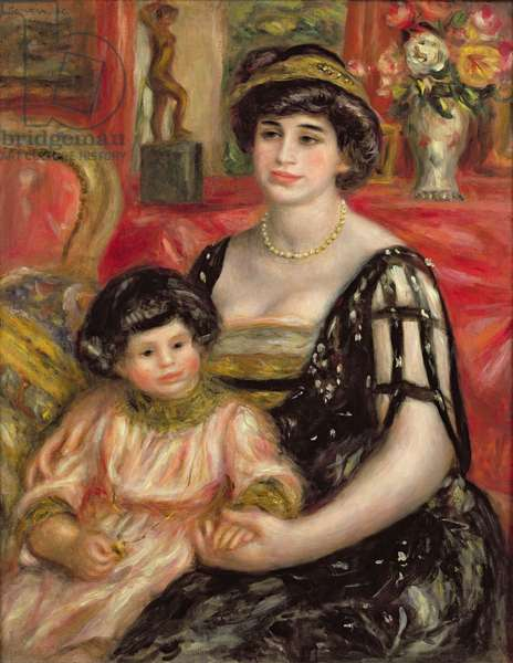 Madame Josse Bernheim-Jeune and her Son Henry, 1910 (oil on canvas)