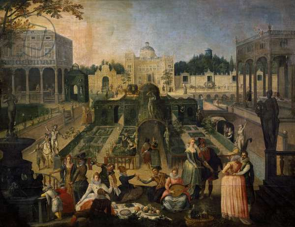 A Feast in the park of the Duke of Mantua, c.1595 (oil on canvas)