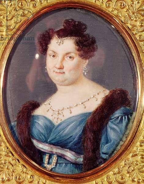 Marie-Christine de Bourbon-Sicile (1806-78) Queen of Spain (oil on canvas)