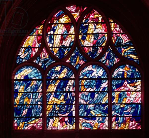 Window depicting the Baptism, 1966 (stained glass)
