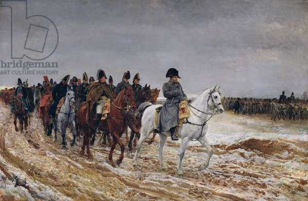 Napoleon (1769-1821) on Campaign in 1814, 1864 (oil on canvas)