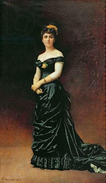 Portrait of Madame Bishoffsheim, 1877 (oil on canvas)