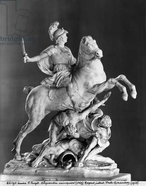 Alexander Victorious, after 1683 (see also 280146) (marble) (b/w photo)