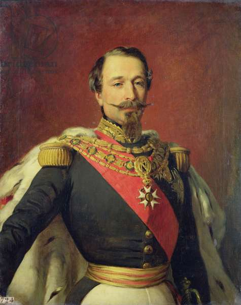 Portrait of Emperor Louis Napoleon III, after the original painting by Francois Xavier Winterhalter (1806-73) 1853 (oil on canvas)