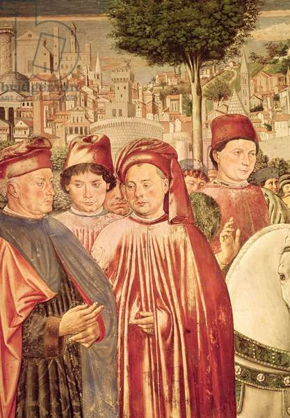 St. Augustine Departing for Milan, from the Cycle of the Life of St. Augustine, 1464-65 (fresco) (detail)