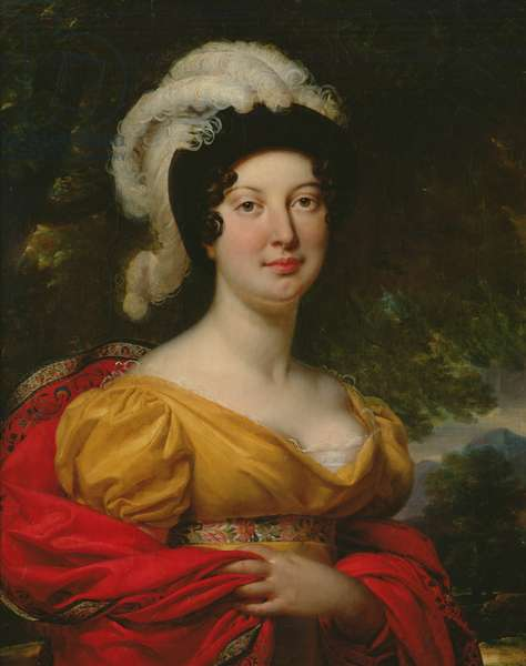 Portrait of Marshal Lanne's wife (oil on canvas)