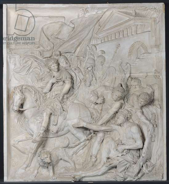 Alexander the Great and Diogenes, completed in 1693 (marble) (see also 193557)