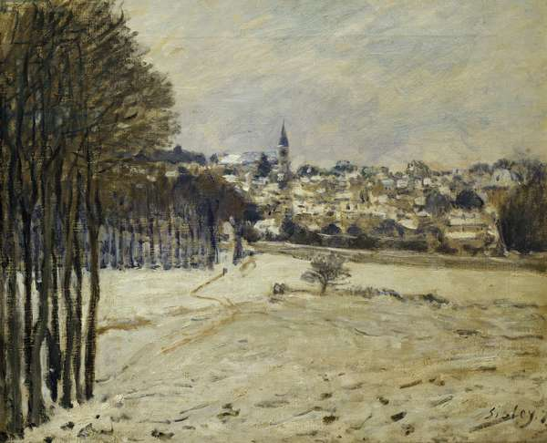 The Snow at Marly-le-Roi, 1875 (oil on canvas)