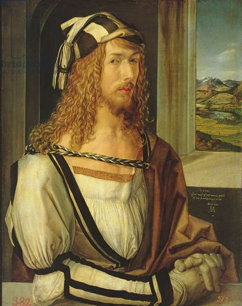 Self Portrait with Gloves, 1498 (oil on panel)
