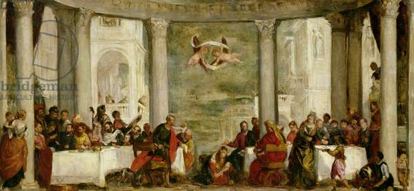 The Meal at the House of Simon the Pharisee, after a painting by Veronese (1528-88) 1860 (oil on canvas)