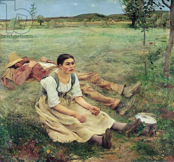 The Haymakers, 1877 (oil on canvas)