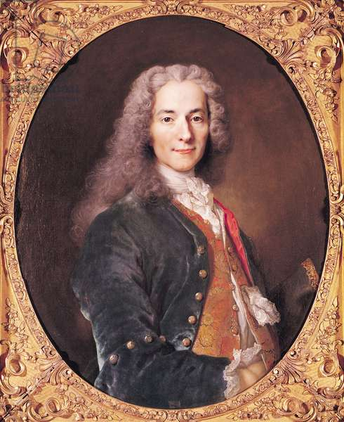 Portrait of Voltaire (1694-1778) aged 23, 1728 (oil on canvas)