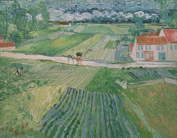 Landscape at Auvers after the Rain, 1890 (oil on canvas)