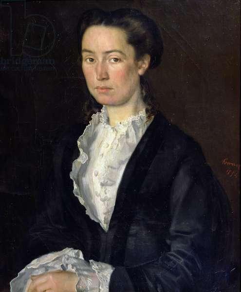Portrait of Adelaéde Mathilde Rousseaux, 1854, (oil on canvas)