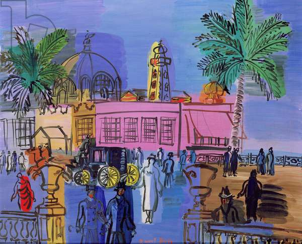 The Casino on the Jetty, Nice, c.1926 (oil on canvas)