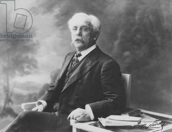 Portrait of Gabriel Fauré (b/w photo)