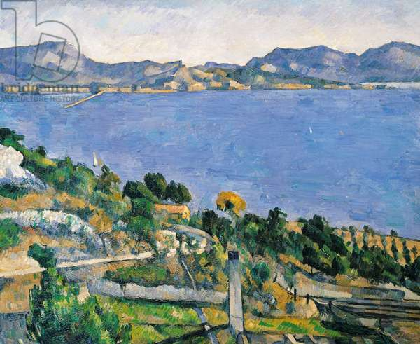L'Estaque, View of the Bay of Marseilles, c.1878-79 (oil on canvas)