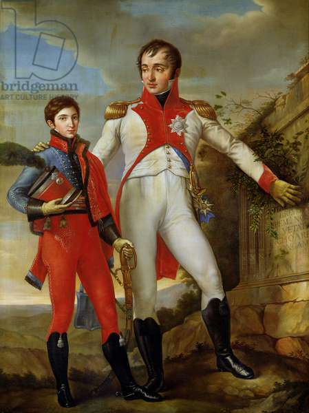Louis Bonaparte (1778-1846) King of Holland and Louis Napoleon (1804-31) Crown Prince of Holland, c.1806 (oil on canvas)
