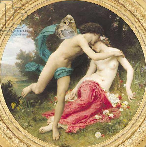 Flora and Zephyr, 1875 (oil on canvas)