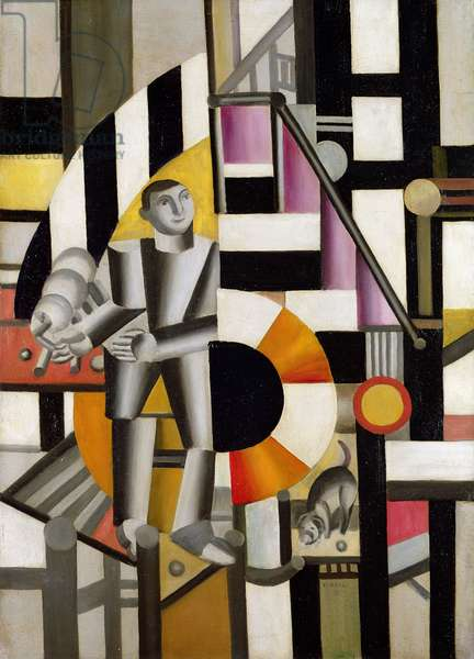 Man with Pipe, 1920 (oil on canvas)