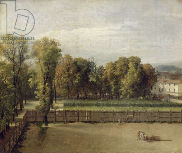 View of the Luxembourg Gardens in Paris, 1794 (oil on canvas)
