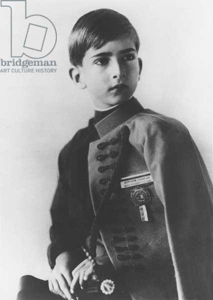 Portrait of of Peter II, c.1933 (b/w photo)