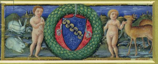 The Coat of Arms of the Marcello Family (vellum)