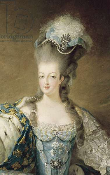 Portrait of Marie Antoinette (1755-93) Queen of France, detail, 1775 (oil on canvas)