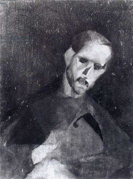 Portrait of Raymond Duchamp-Villon (1870-1940) (oil) (b/w photo)