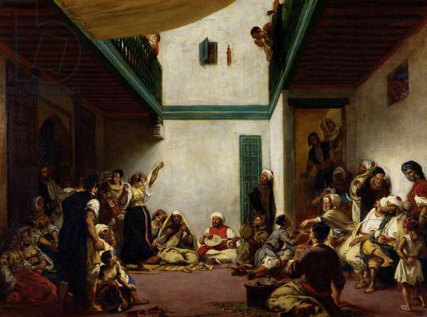 A Jewish wedding in Morocco, 1841 (oil on canvas)