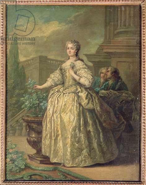 Portrait of Maria Leszczynska (1703-68) 1747 (oil on card)