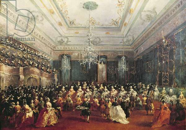 Gala Concert given in January 1782 in Venice for the Tsarevich Paul of Russia and his wife, Maria Feodorovna (oil on canvas)