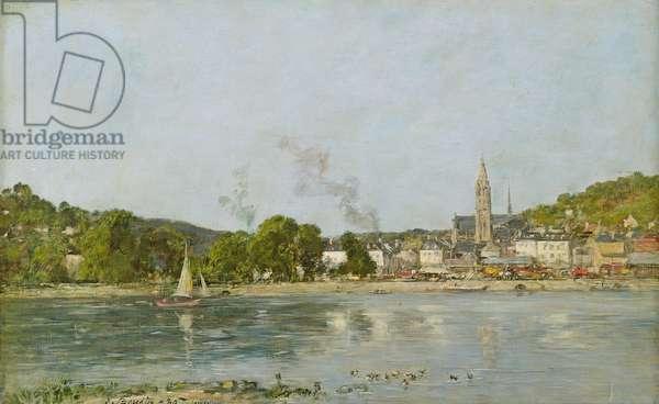 The Seine at Caudebec-en-Caux, 1889 (oil on canvas)