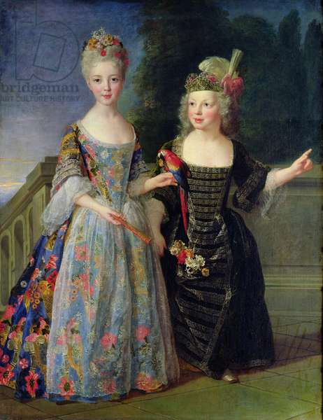 Catherine-Eleonore de Bethisy (1707-67) and her Brother, Eugene-Eleanore (1709-81) (oil on canvas)