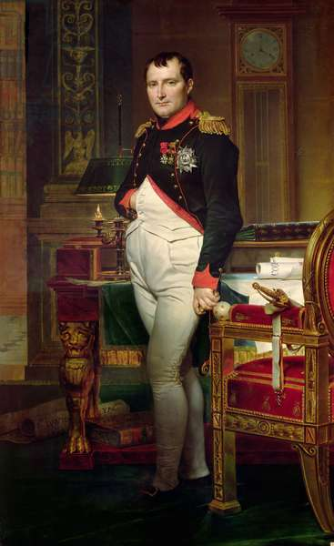 Napoleon Bonaparte in his Study at the Tuileries, 1812 (oil on canvas)