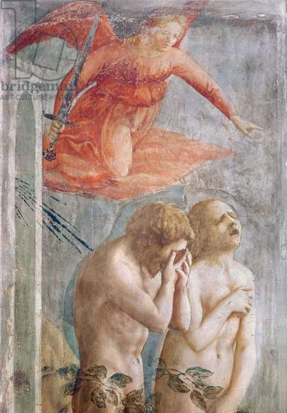 Detail of Adam and Eve Banished from Paradise, c.1427 (fresco) (detail of 30029)