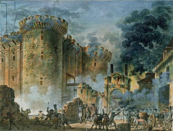 The Taking of the Bastille, 14th July 1789 (oil on canvas)