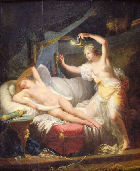 Cupid and Psyche (oil on canvas)
